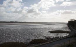 Het estuarium van Rivierexe in Zuiden Devon England het UK royalty-vrije stock foto