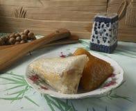 Het eten in China - traditionele rijstbollen Royalty-vrije Stock Foto's