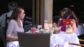 Het eten in de zonneschijn (6 van 7) stock videobeelden