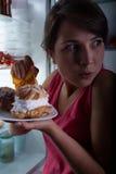 Het eten in geheim stock fotografie