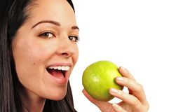 Het eten van appel Stock Foto