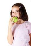 Het eten van appel royalty-vrije stock afbeeldingen
