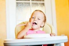 Het eten van baby Royalty-vrije Stock Afbeelding