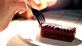 Het eten van cake Royalty-vrije Stock Afbeelding