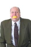 Het eten van citroen stock foto's