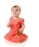 Het eten van de baby Royalty-vrije Stock Afbeeldingen