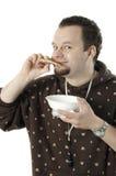 Het eten van de mens Stock Fotografie