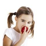 Het eten van een Appel Royalty-vrije Stock Foto's
