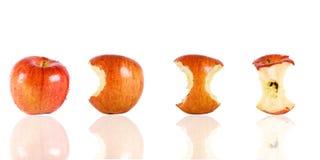 Het eten van een appel Royalty-vrije Stock Afbeelding