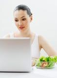 Het eten van gezond voedsel Stock Foto