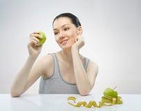 Het eten van gezond voedsel Stock Fotografie