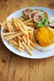 Het eten van het restaurant royalty-vrije stock afbeeldingen