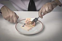 Het eten van Inkomens royalty-vrije stock fotografie