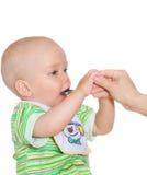 Het eten van kind stock afbeelding