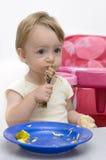Het eten van Kip Royalty-vrije Stock Foto's