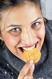 Het eten van koekje Stock Foto's