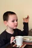 Het eten van ontbijt Stock Afbeelding