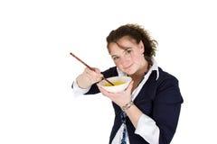 Het eten van rijst Royalty-vrije Stock Afbeelding