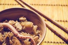 Het eten van voedsel van rijst Stock Fotografie