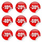 Het etiket en de sticker van de korting stock illustratie