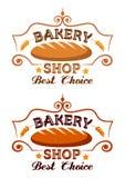 Het etiket van de bakkerijwinkel Stock Fotografie