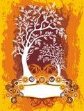 Het etiket van de boom royalty-vrije illustratie