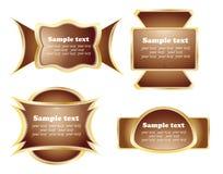 Het etiket van de chocolade Stock Afbeeldingen