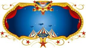 Het etiket van de circusnacht Royalty-vrije Stock Foto
