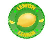 Het etiket van de citroen Royalty-vrije Stock Fotografie
