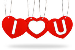 Het etiket van de de valentijnskaartmarkering van het hart Royalty-vrije Stock Fotografie