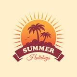 Het Etiket van de de zomervakantie Stock Afbeelding