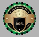 Het etiket van de het productwaarborg van de veiligheid Stock Afbeelding