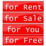 Het etiket van de huur stock illustratie