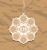 Het etiket van de Kerstmiskorting, uitstekende stijl Royalty-vrije Stock Afbeeldingen