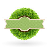 Het etiket van de natuurvoeding. Royalty-vrije Stock Afbeelding