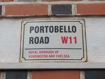 Het etiket van de Portobelloweg royalty-vrije stock foto