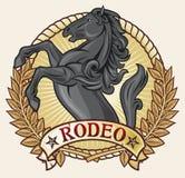 Het etiket van de rodeo vector illustratie