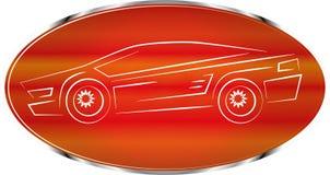 Het etiket van de sportwagen, autokentekenontwerp, pictogram Stock Afbeeldingen