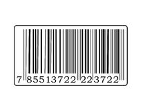 Het etiket van de streepjescode Stock Fotografie