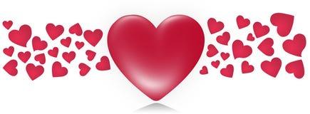 Het etiket van de valentijnskaart Stock Afbeelding
