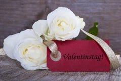 Het Etiket van de valentijnskaartendag Stock Fotografie