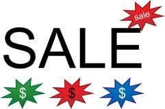 Het etiket van de verkoop royalty-vrije illustratie