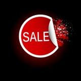 Het etiket van de verkoopmarkering. Vectorillustratie Stock Afbeeldingen