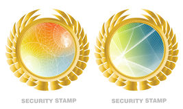 Het etiket van de waarborg royalty-vrije illustratie