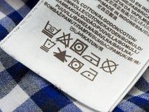 Het etiket van de wasserijzorg Stock Afbeelding