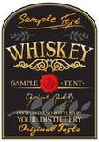 Het etiket van de whisky Stock Foto