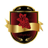 Het etiket van de wijn vector illustratie