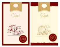 Het Etiket van de wijn Stock Foto