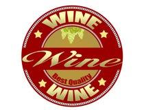 Het etiket van de wijn Stock Fotografie