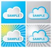 Het etiket van de wolk vector illustratie